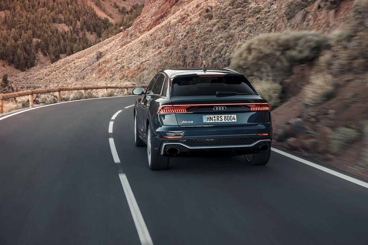 Rear-end gets RS-specific tailpipes, roof-mounted spoiler and sporty bumpers