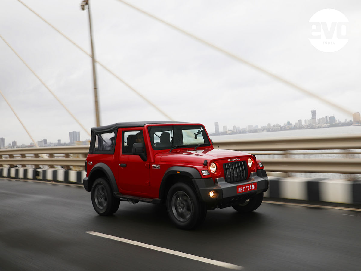 The Thar comes with a soft top but you can get a hard top straight from the factory