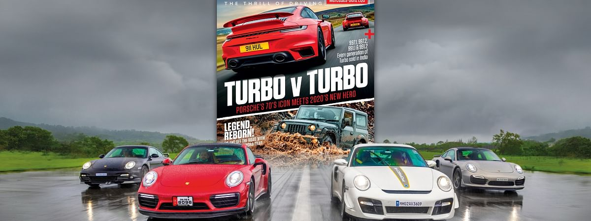 The September 2020 issue features icons like the 911 Turbo and Mahindra Thar