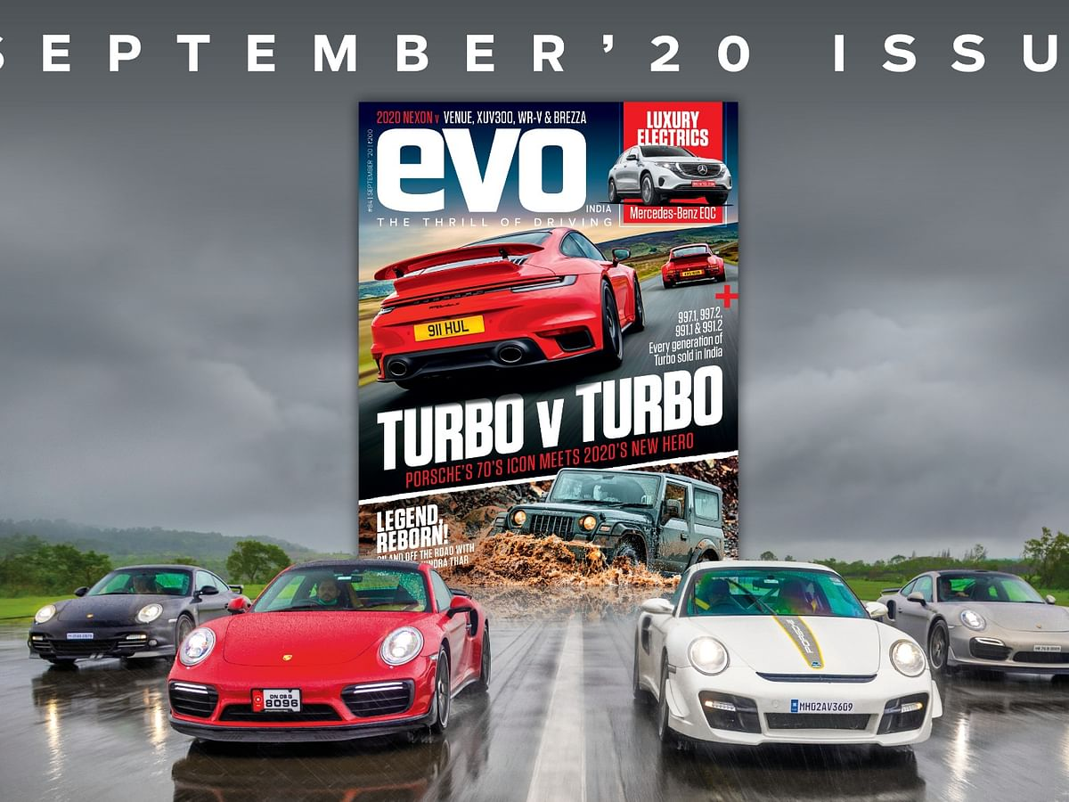 Two icons: the Porsche 911 Turbo and Mahindra Thar headline the September 2020 issue of evo India
