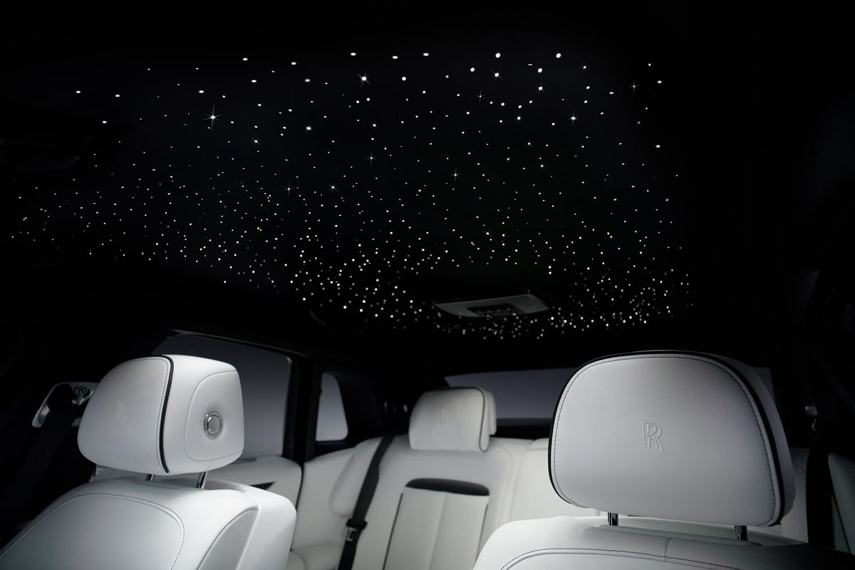 The starred ceiling on the new Ghost