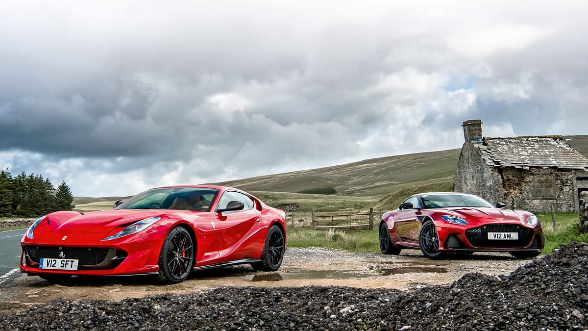 Aston Martin DBS Superleggera v Ferrari 812 Superfast