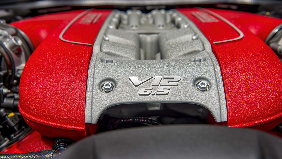 The 6.5-litre V12 engine