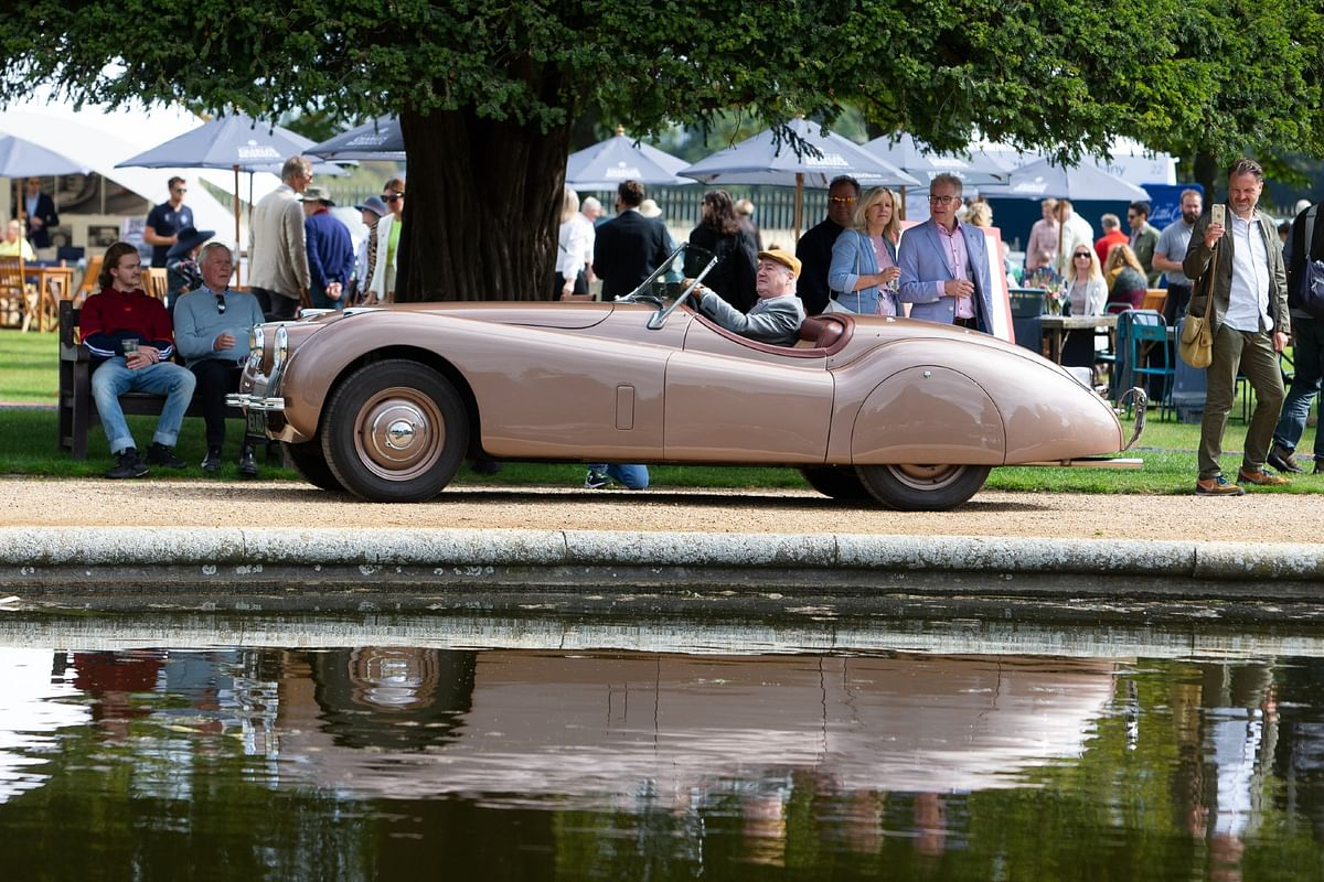 This mint condition Jaguar XK120 was awarded the Jaguar Trophy and as well as the CSC Club Award