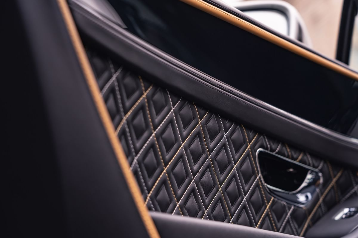 The quilting on the door panels matches that of the cabin