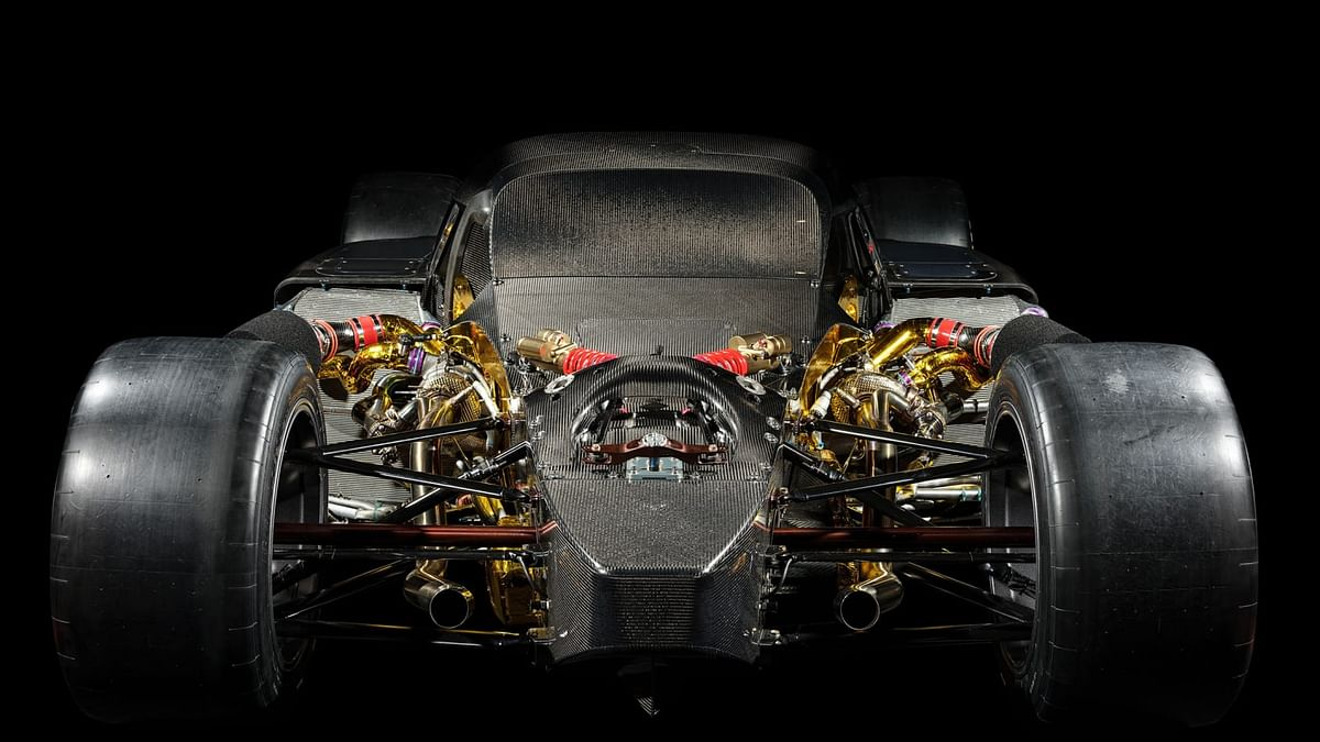 Gets a 2.4-litre twin-turbo V^ engine with two electric motors