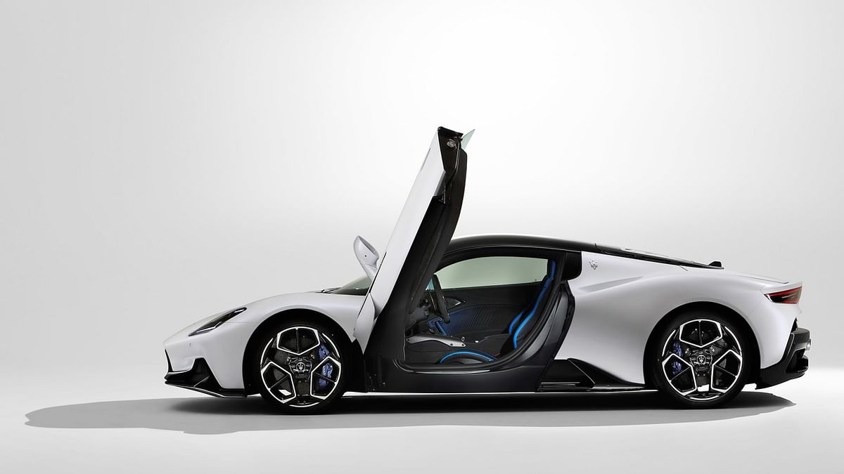 Maserati chose butterfly doors as a way of maintaining the sharp, aerodynamic profile at the front