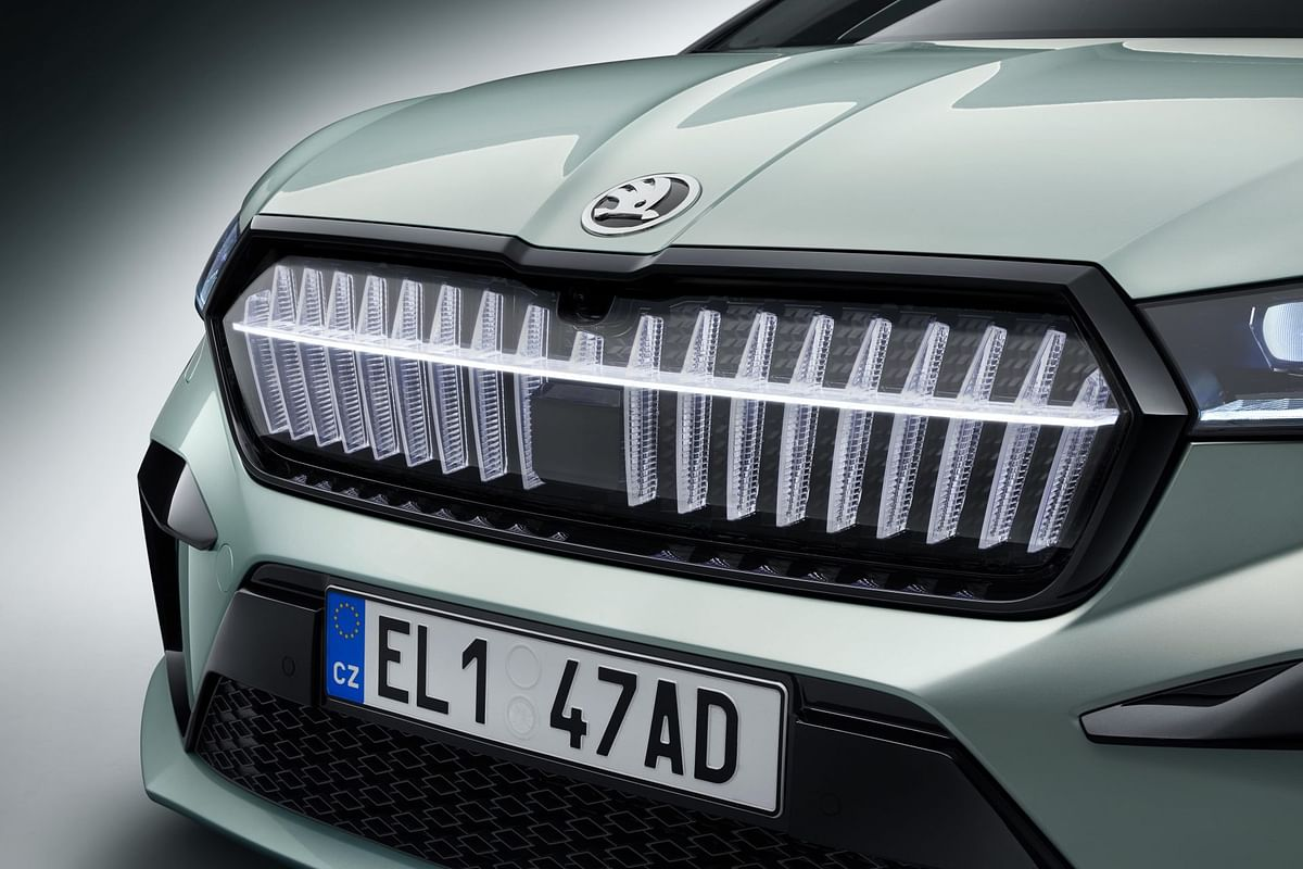 The lights double-up as Skoda's signature vertical slats