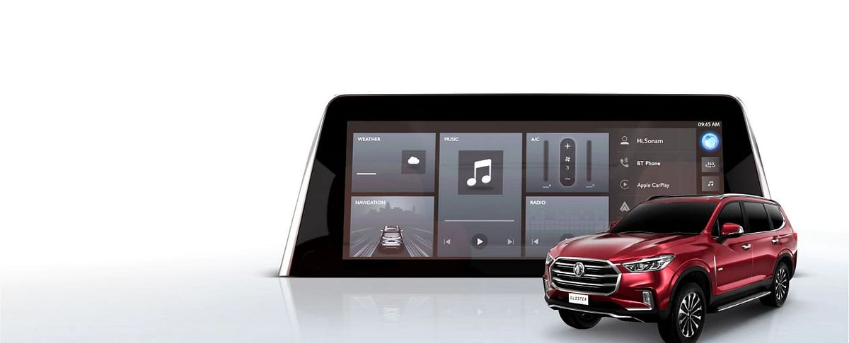 A 12.3-inch infotainment system
