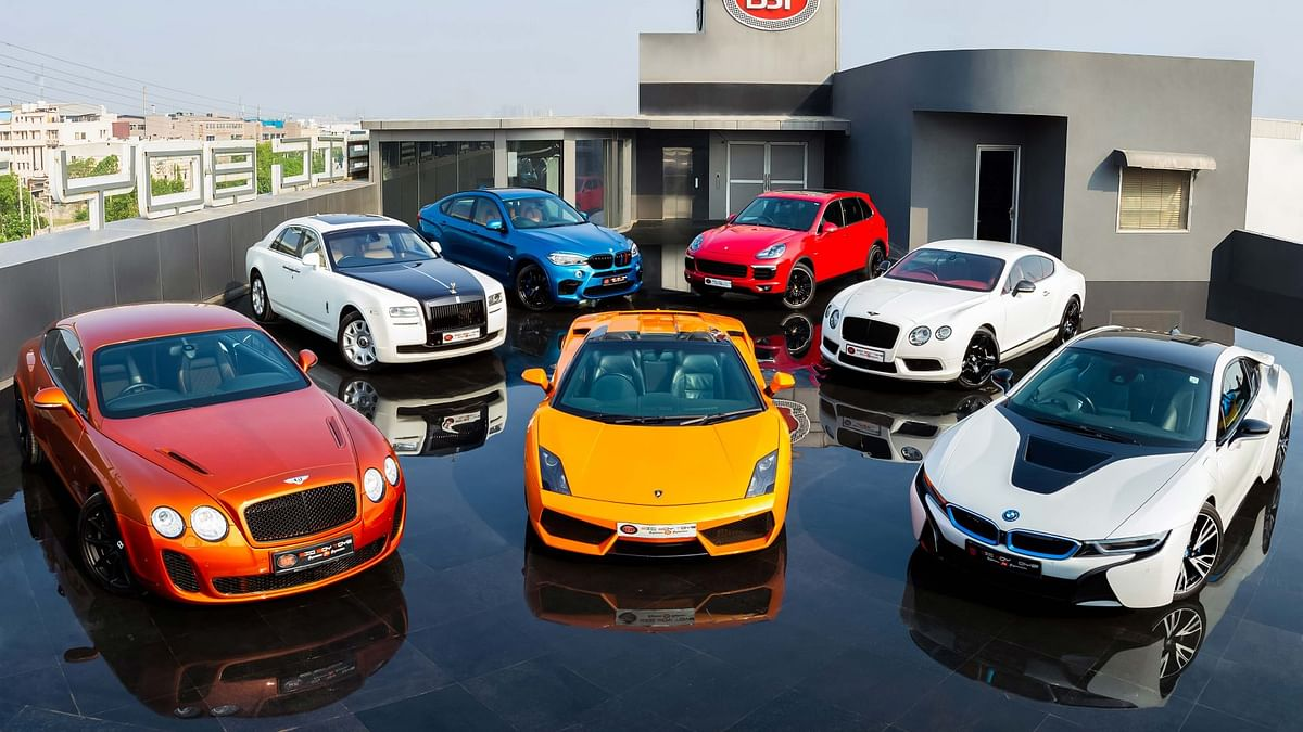 A recent showcase of the cars on sale at Big Boy Toyz