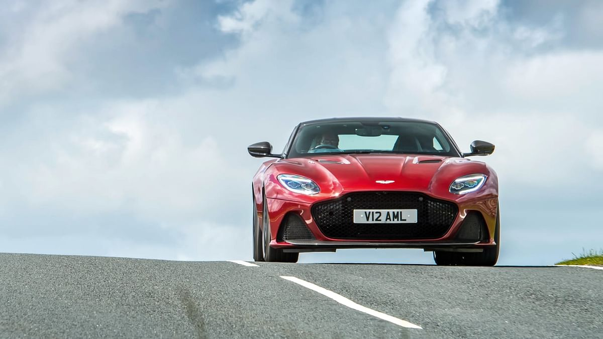 The Aston Martin DBS Superleggera looks stunning in red