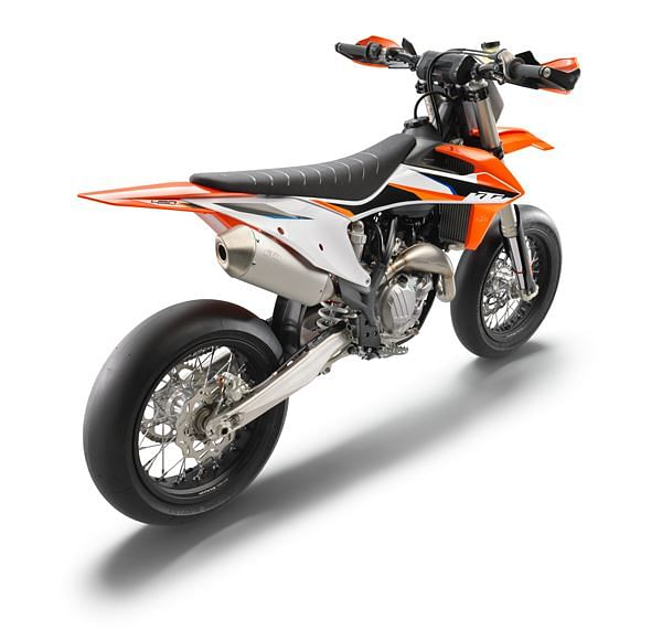 The new orange graphics make the fun yet competitive character of the KTM 450 SMR known