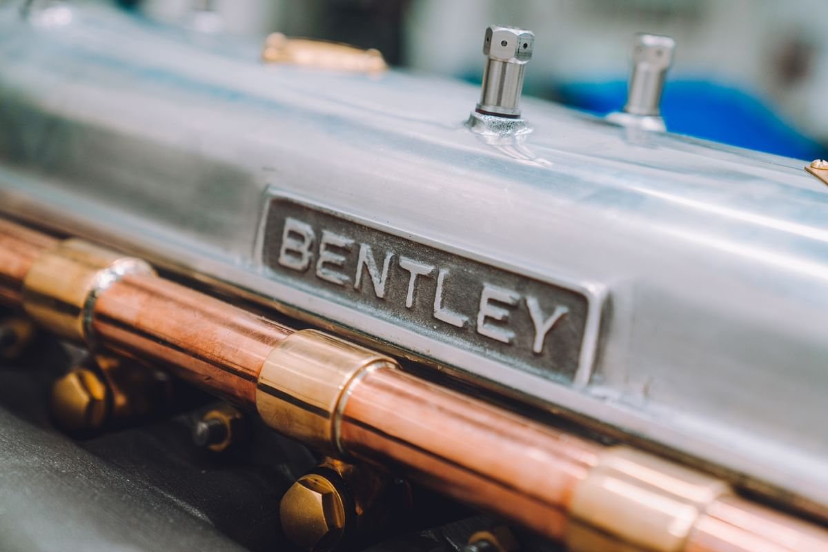 First new Bentley 1928 Blower revival engine fires up