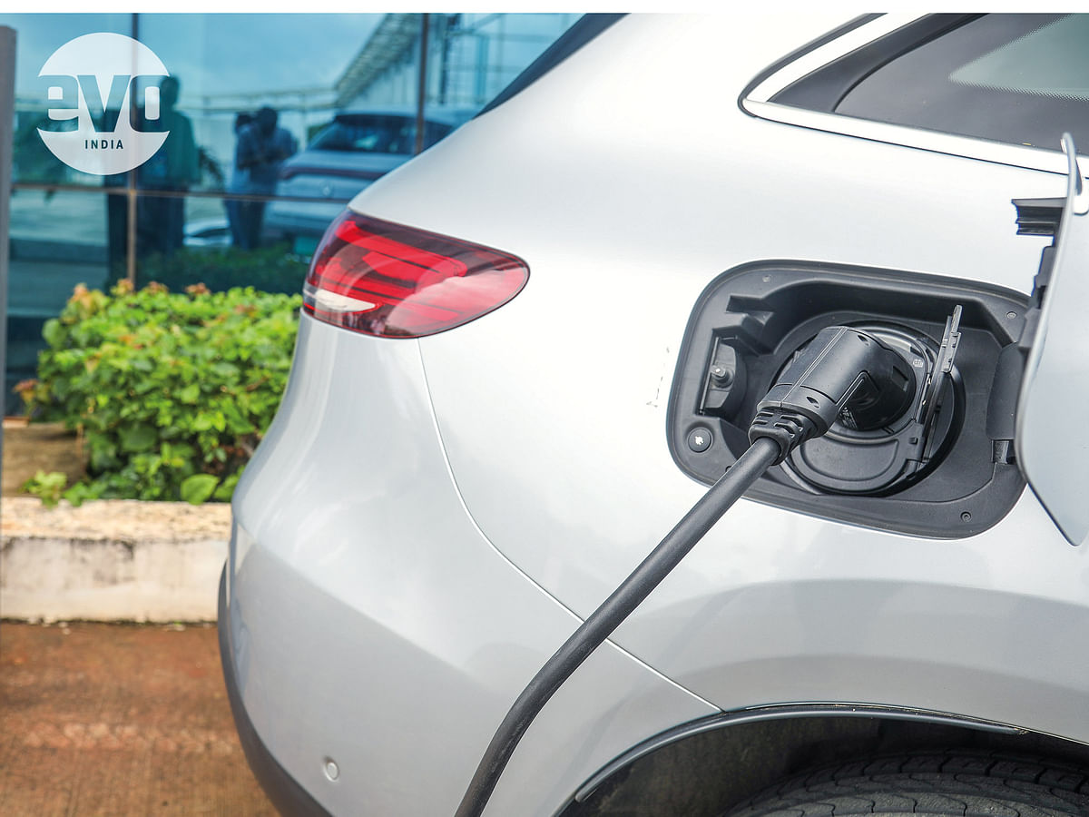 The EQC has the smallest battery size of 80kWh and it takes 21 hours for a full charge the EQC on home socket