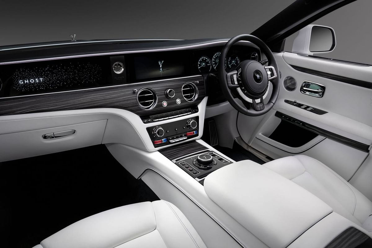 The minimalistic interior on the new Ghost