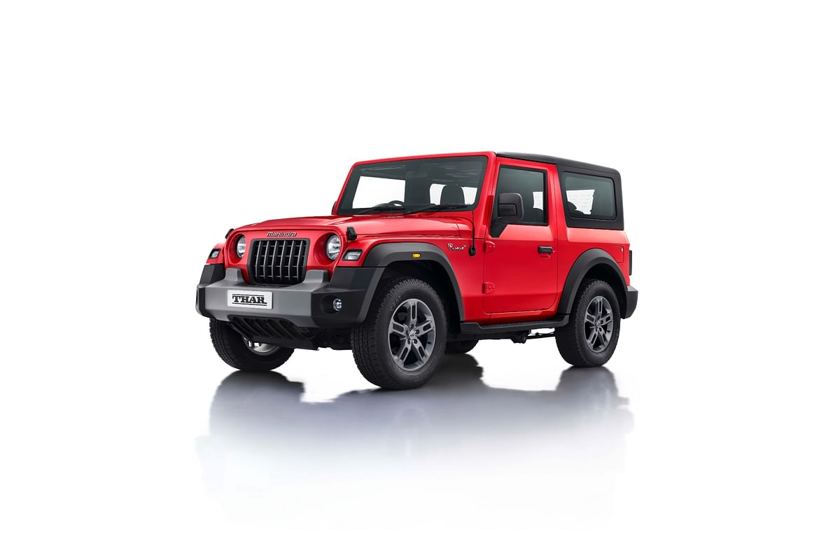 The winner of the auction will get a choice of five variants and six colour options on their personalised all-new Thar