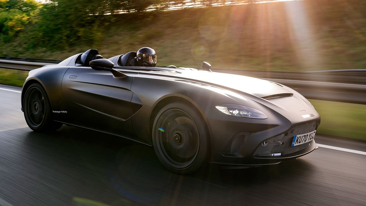Aston Martin V12 Speedster prototype revealed on public roads