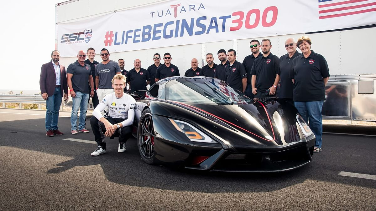 Oliver Webb, the British racing driver tested the world's fastest car