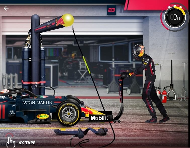 Beat the world record, by the fastest pitstop crew and get exclusive Red Bull merchandise