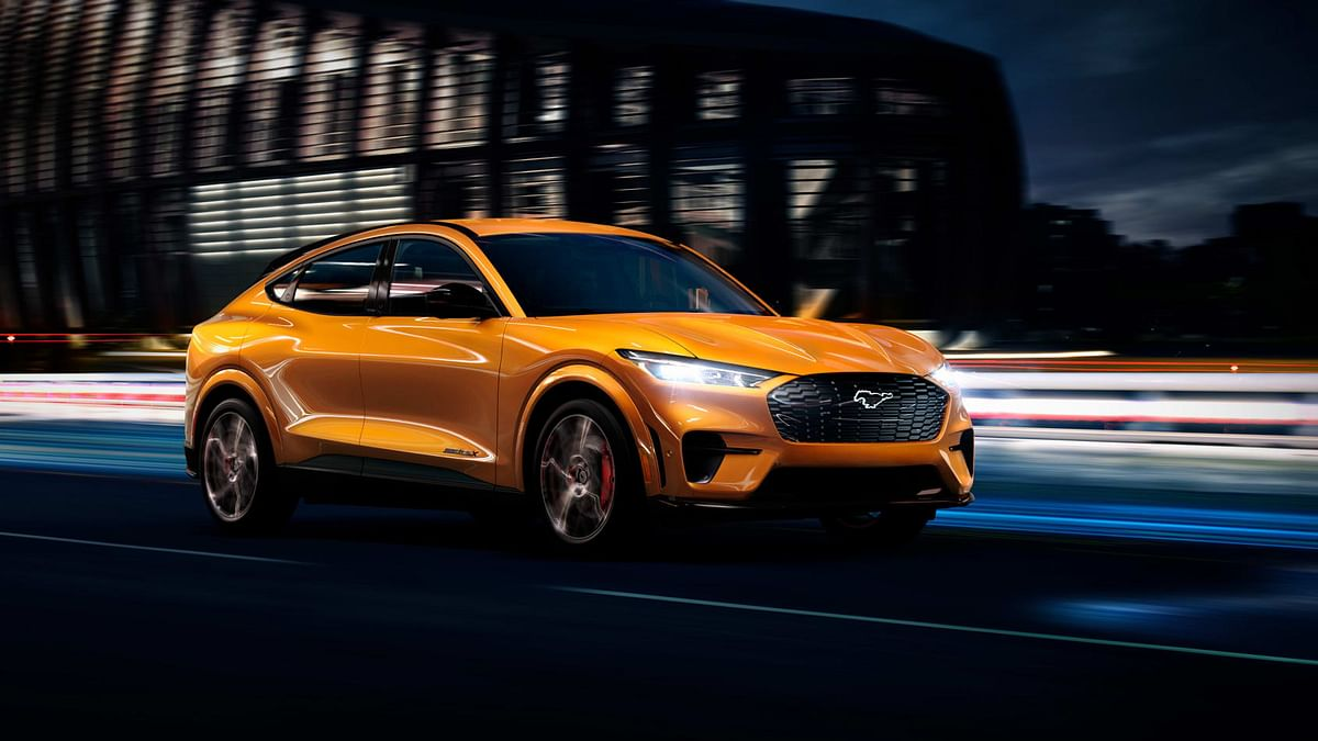 The all-electric Ford Mustang Mach-E SUV