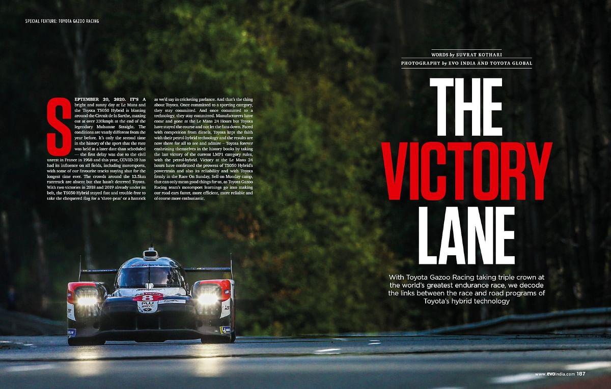 Celebrate Toyota Gazoo Racing's third victory at the Le Mans with the hybrid