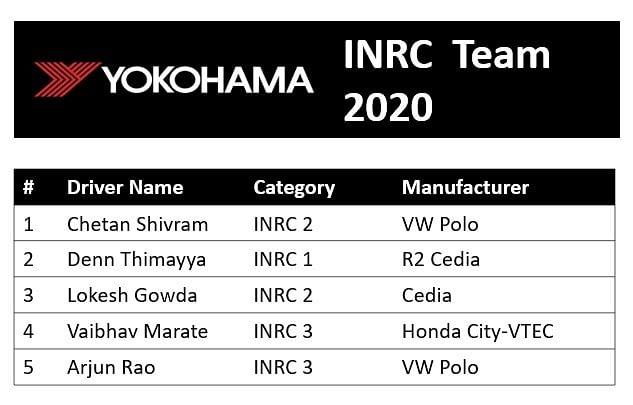 The drivers' lineup of the Yokohama INRC team