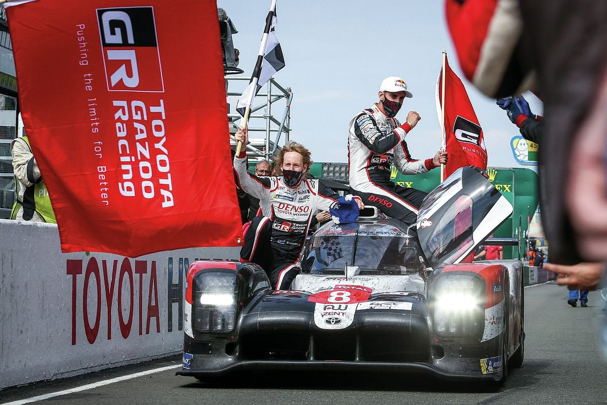 Brendon Hartley, Sebastien Buemi and Kazuki Nakajima drove the winning car at Le Mans 2020
