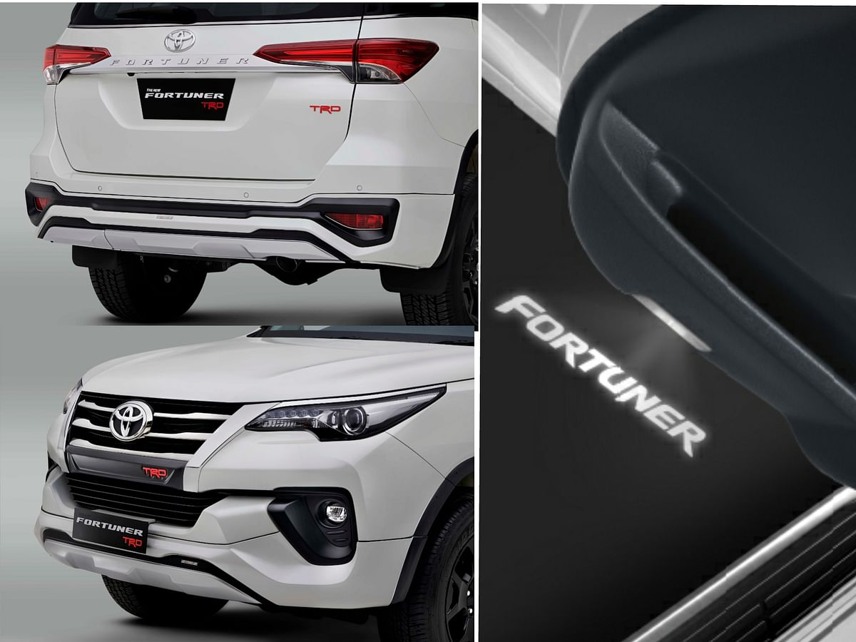 Gets the TRD badging all around in the Fortuner TRD edition