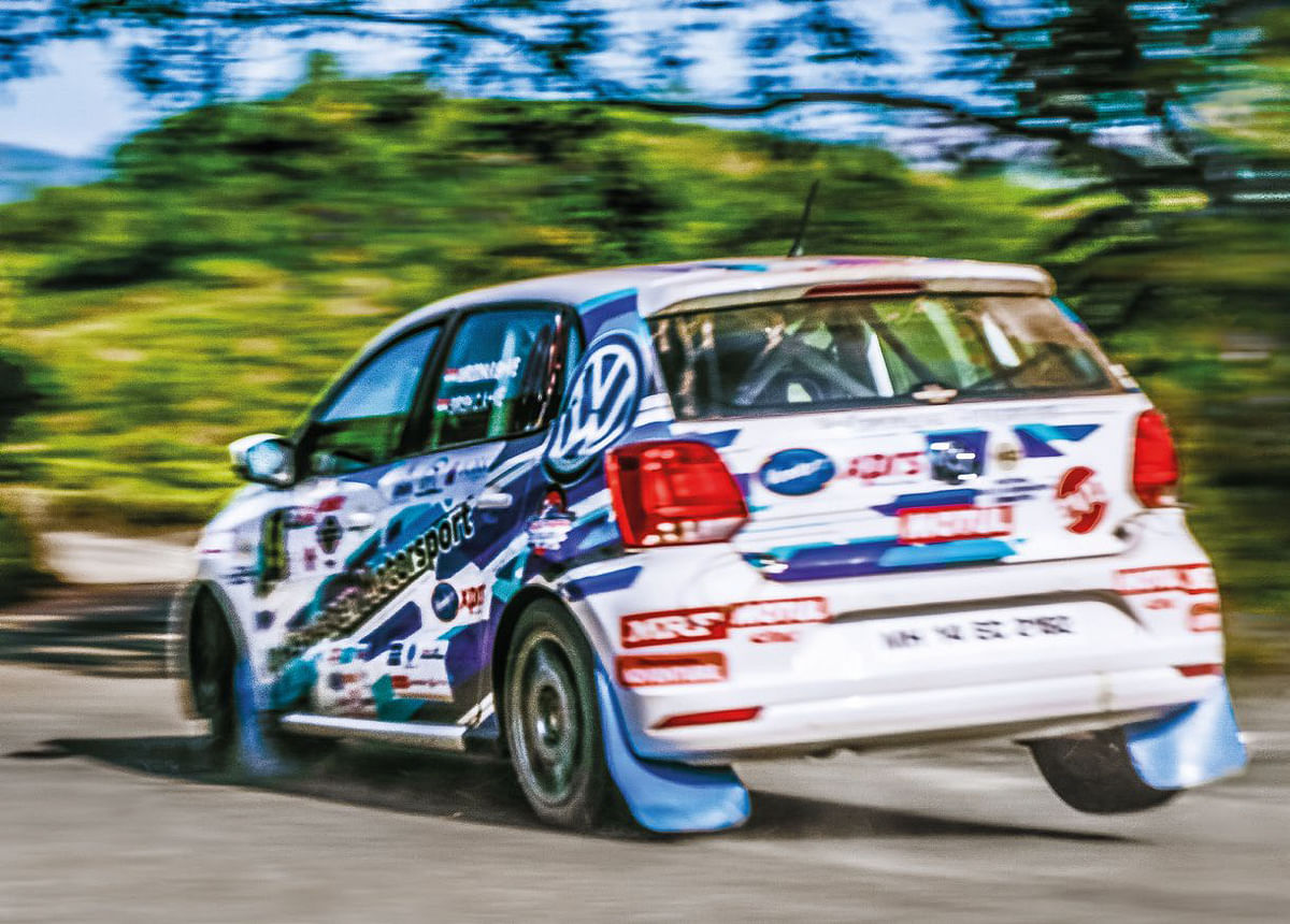 evo india editor Sirish Chandran in action at the 2018 Popular rally