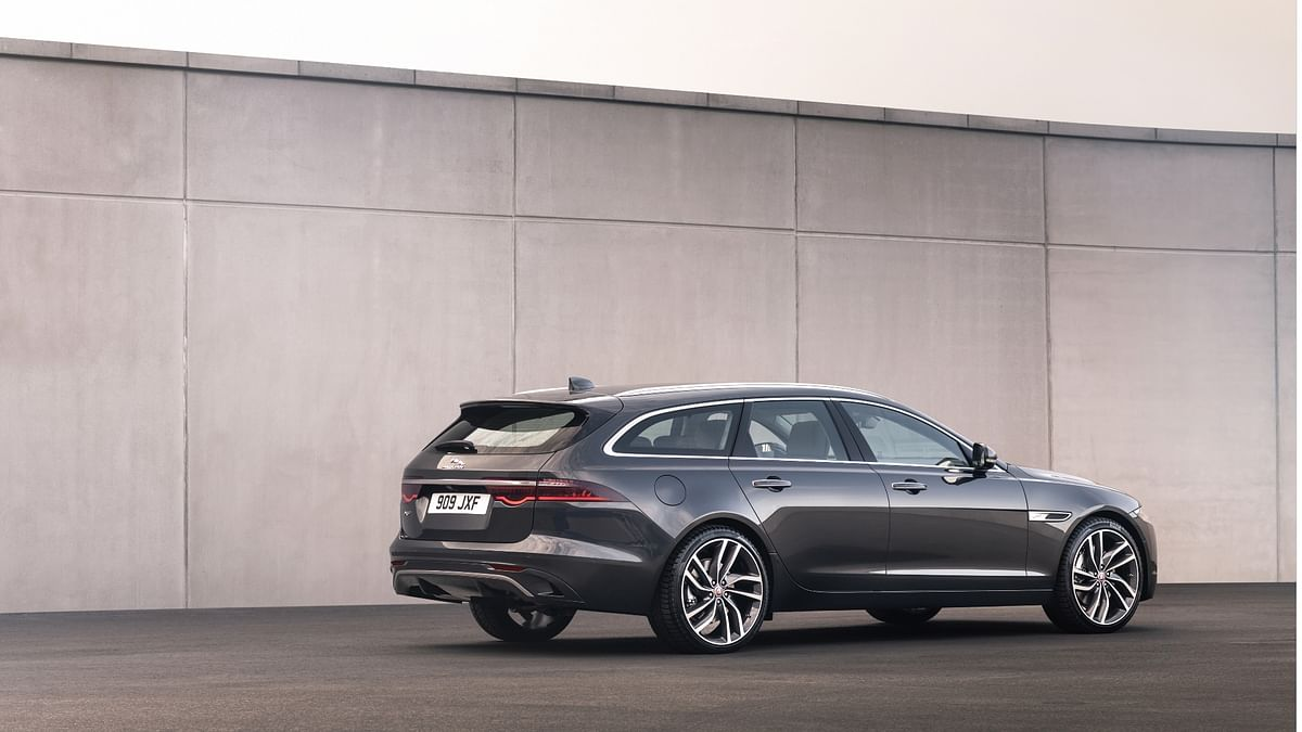 The XF SportBrake sports all the changes the XF does, along with added space out back for the kids and pets