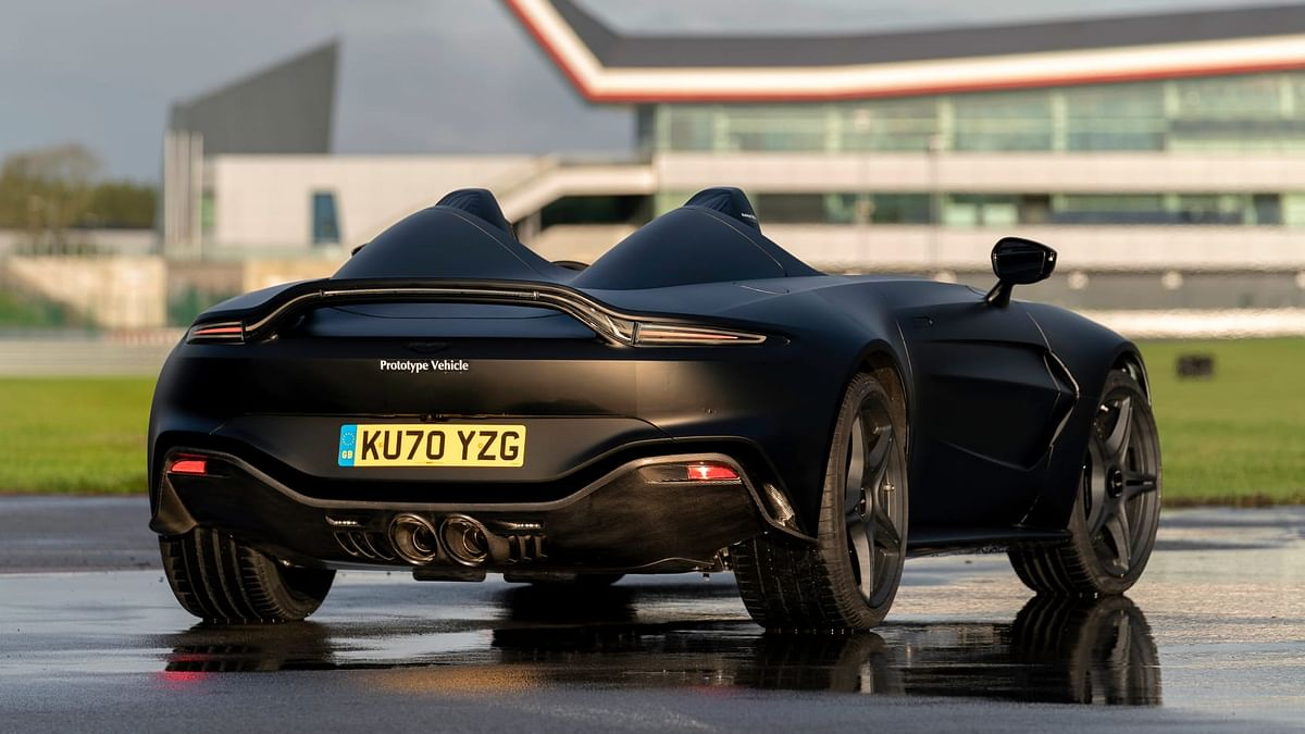 Aston has designed a bespoke stainless steel exhaust for the V12 Speedster