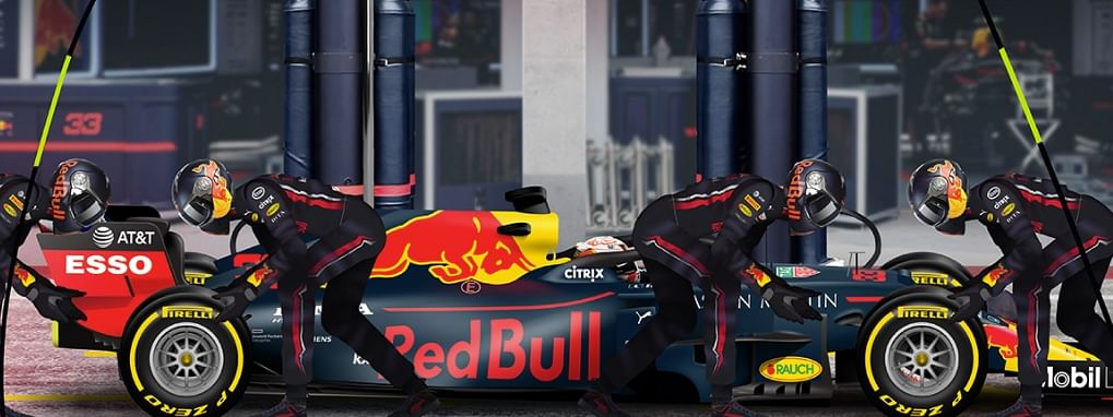 An innovative pitstop challenge by Red Bull