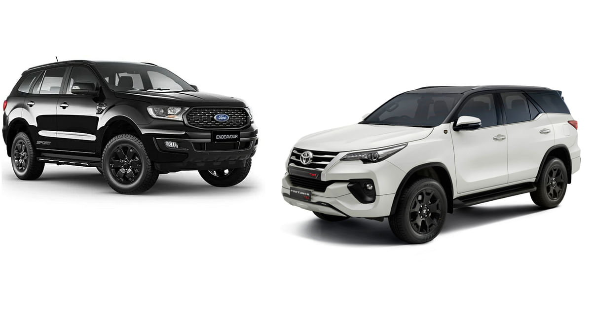 Ford Endeavour Sport vs Toyota Fortuner TRD: Specification Comparison. How different are the 'sporty' variants of the two full-size SUVs?