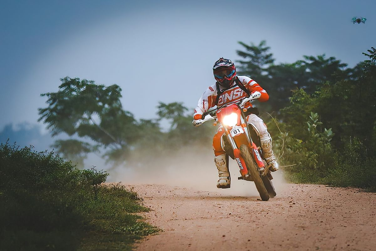 Badal S Doshi leads the Group A class in the Indian National Rally Sprint Championship