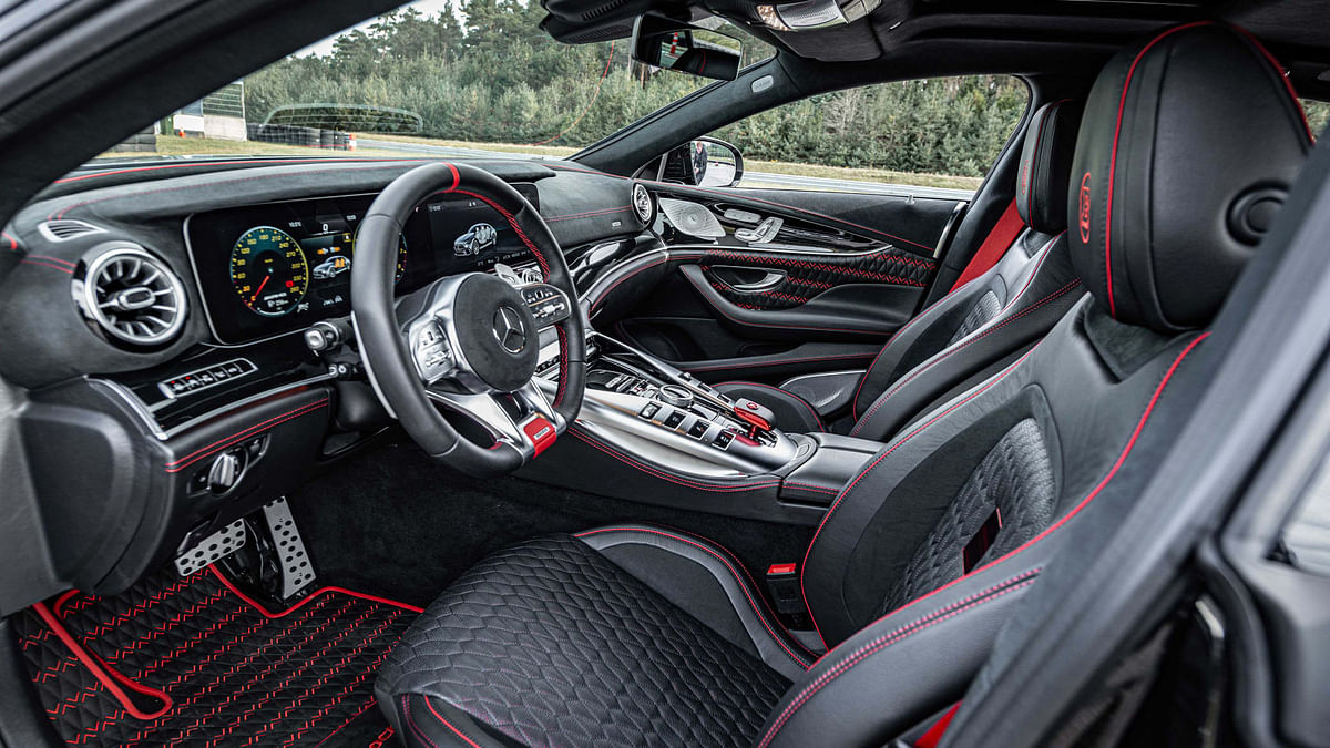 You can choose from any colour of leather or Alcantara on the options list