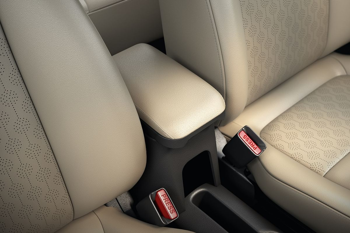 Refreshed styling on the seat covers and driver armrest