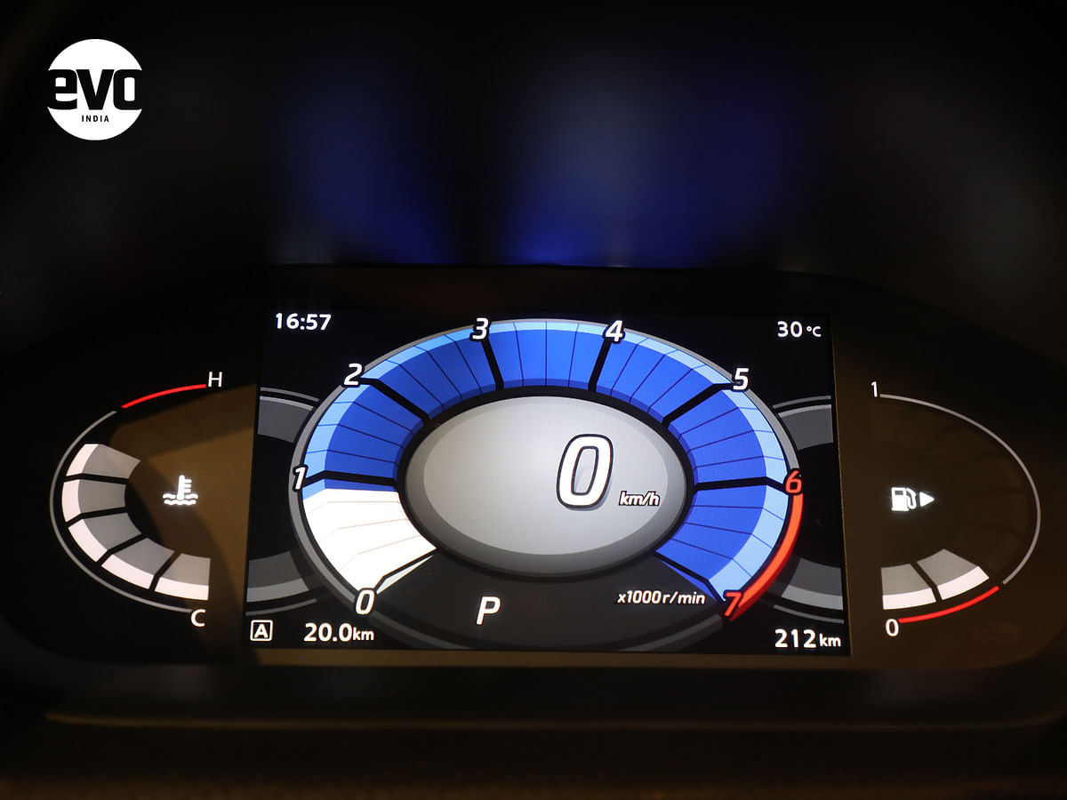 Digital instrument cluster is executed well