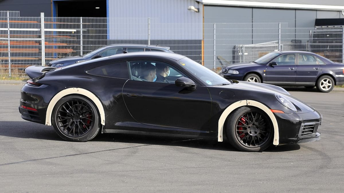 The prototype resembles a widebody kit, if not for the contrasting wheelarches