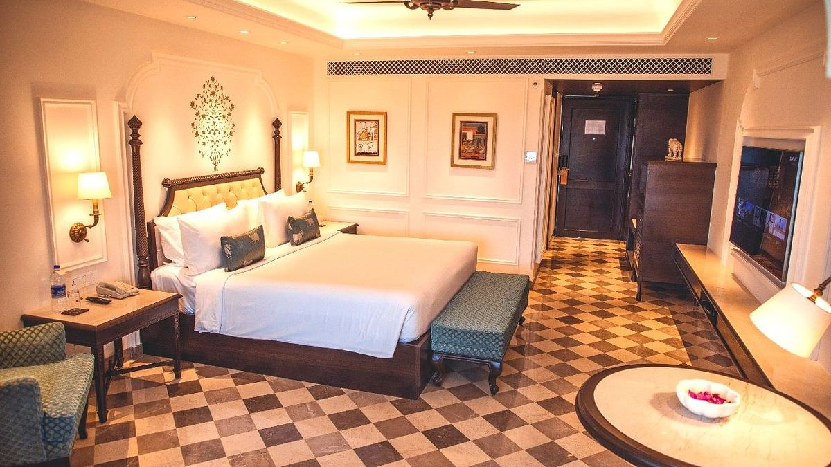 Rooms at Aurika Udaipur are lavish, to say the least