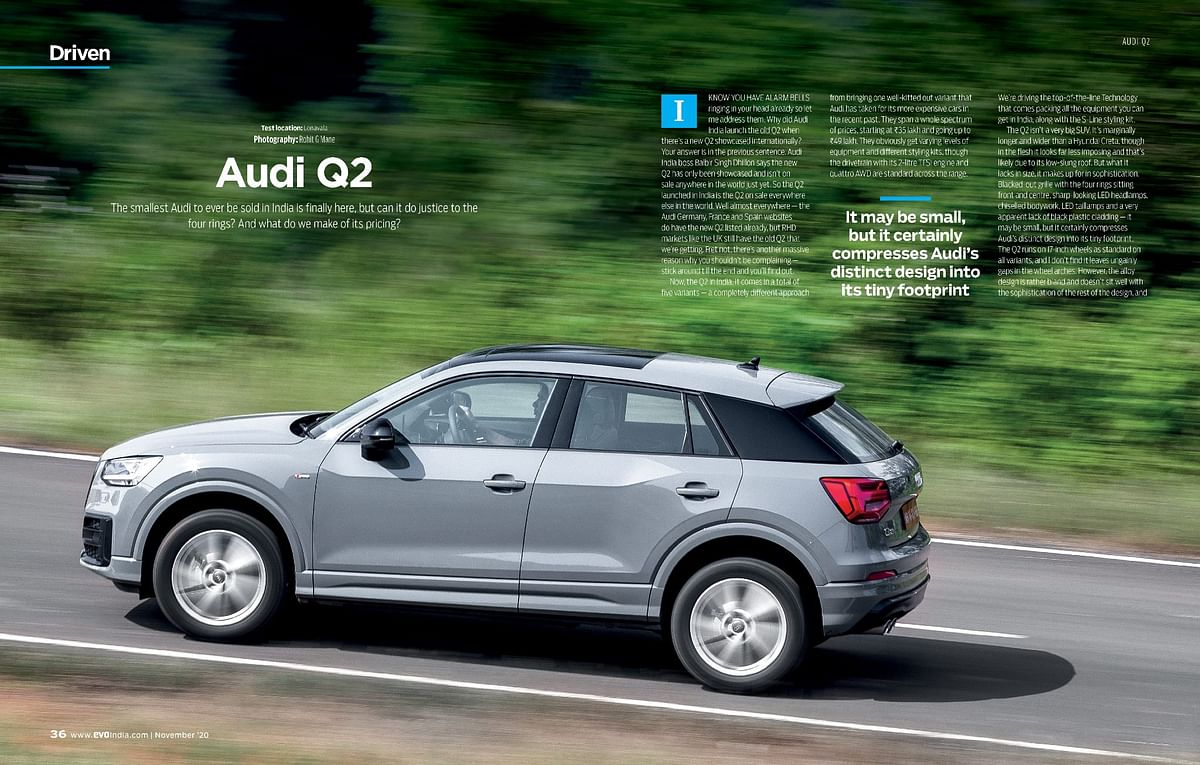We get behind the wheels of the smallest SUV from Audi