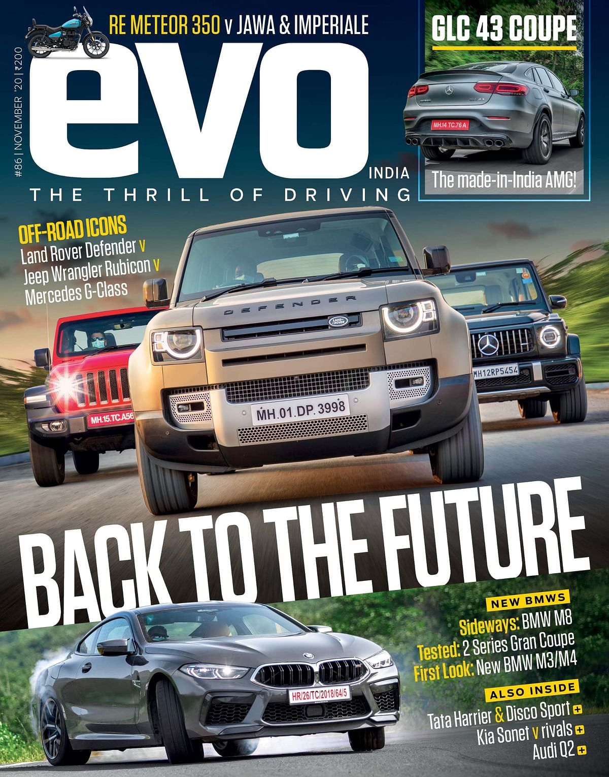The November issue features icons like the Land Rover Defender, Jeep Wrangler Rubicon and the Mercedes-Benz G-Class