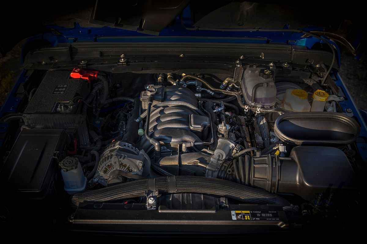 The Jeep Wrangler Rubicon 392 has a 463bhp 6.4-liter V8 engine with 637Nm of torque