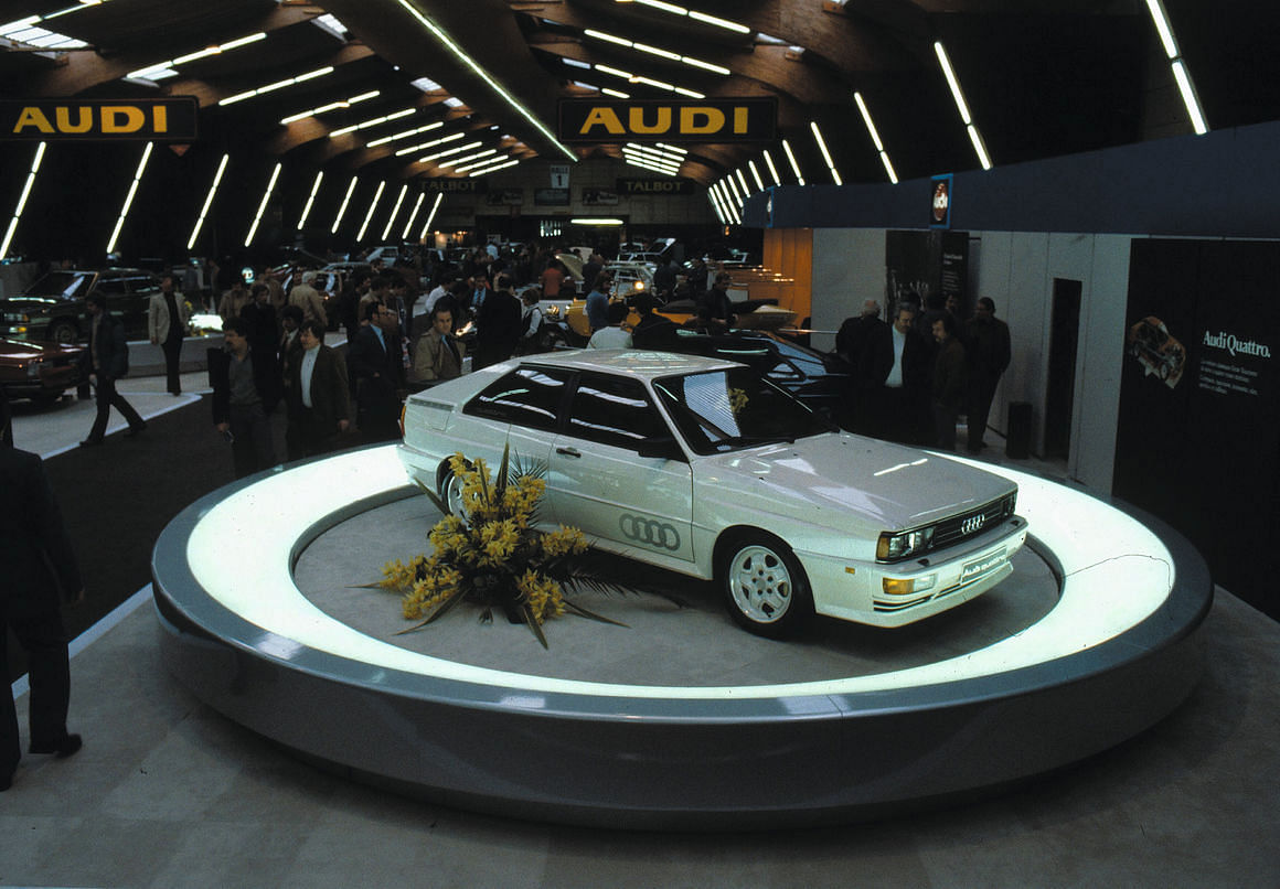 The original quattro made its debut at the Geneva Motor Show in 1980