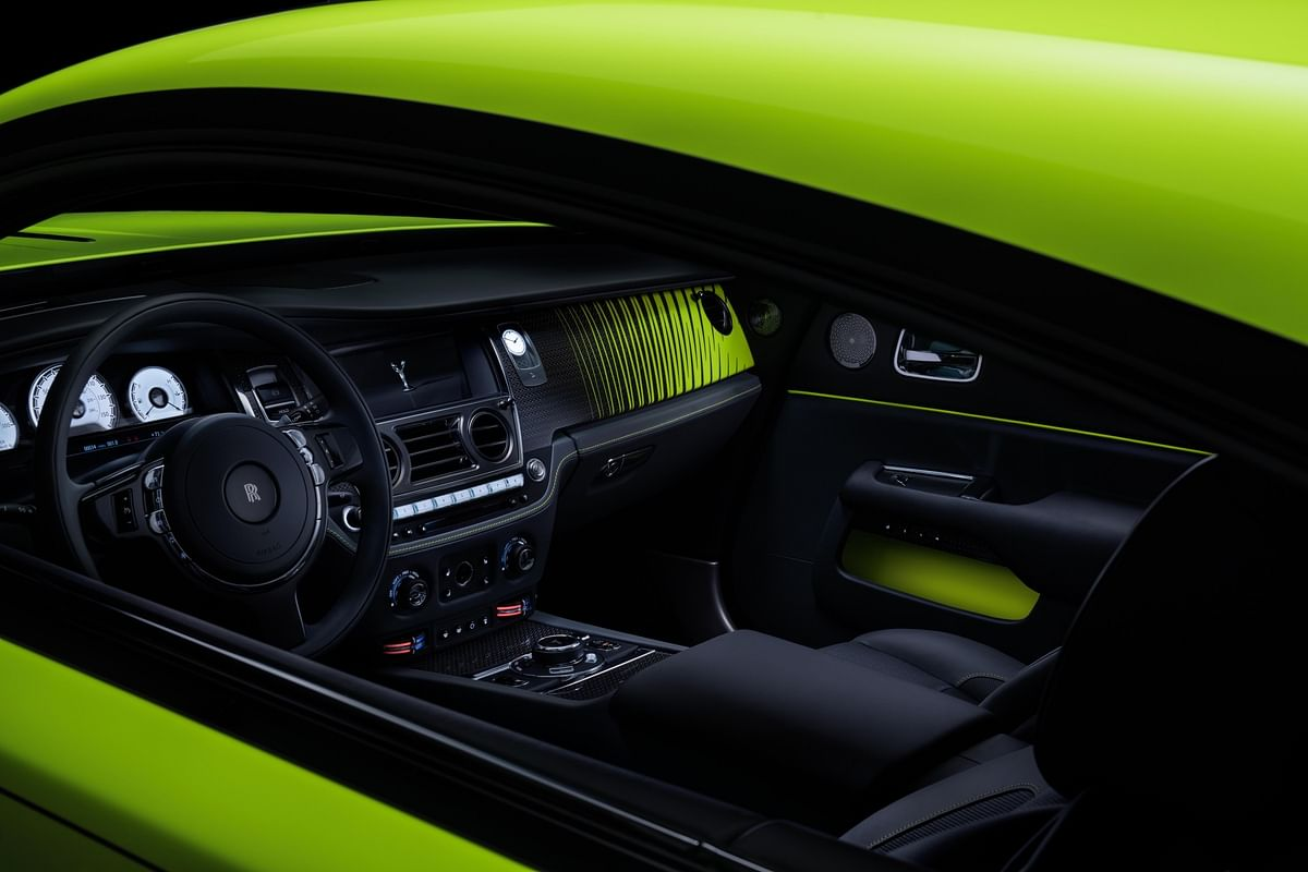 Scivaro Grey leather interiors, with Lime Rock Green accents