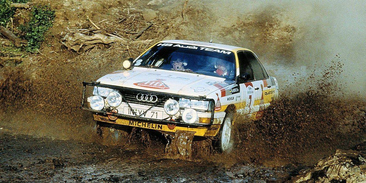 Hannu Mikkola at the 1987 Safari Rally