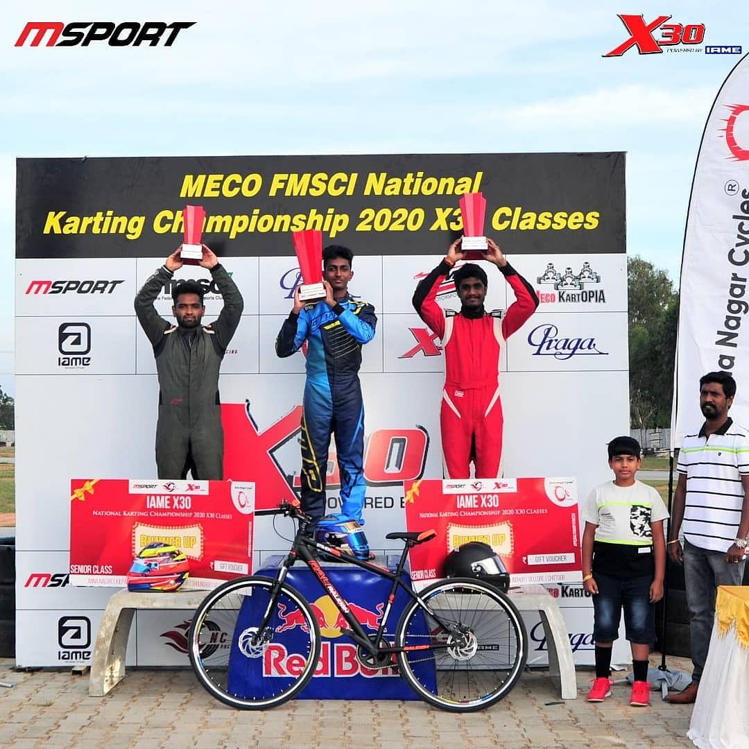 X30 Senior Class Results: Suriya Varathan - National Champion/ Nirmal Umashankar - Runner Up/ Bala Prasath - 2nd Runner Up