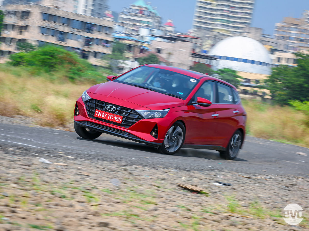 At high speeds the i20 feels solid and planted