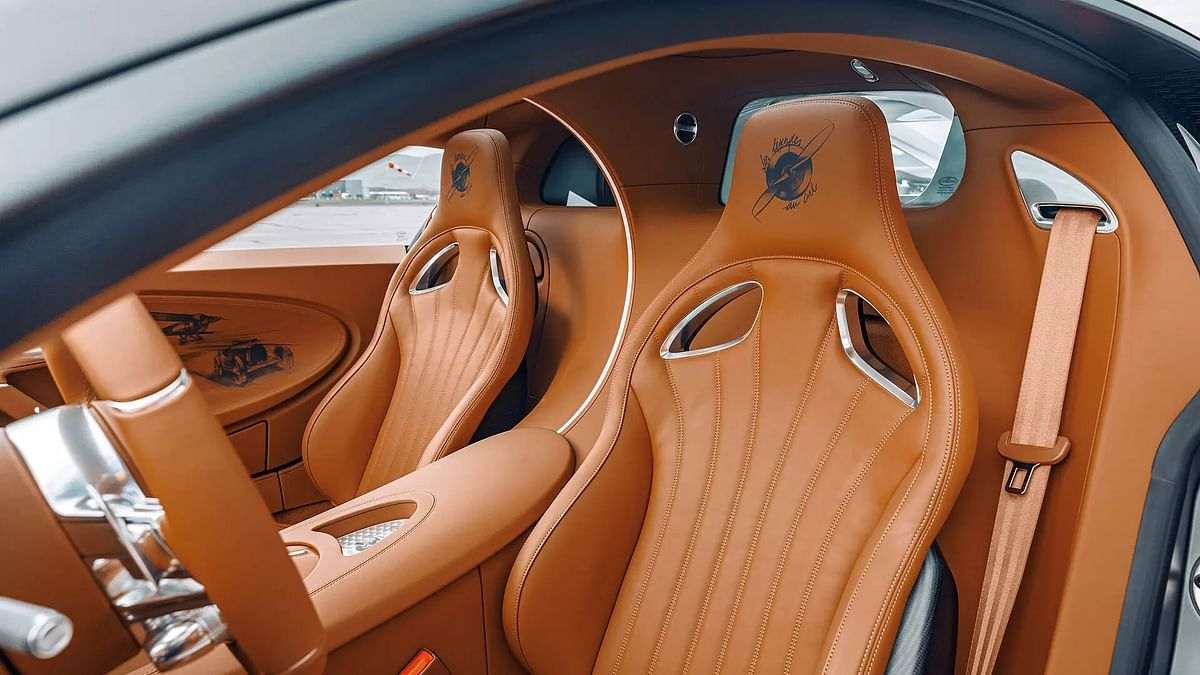 A propeller logo embossed on the Gaucho leather seats
