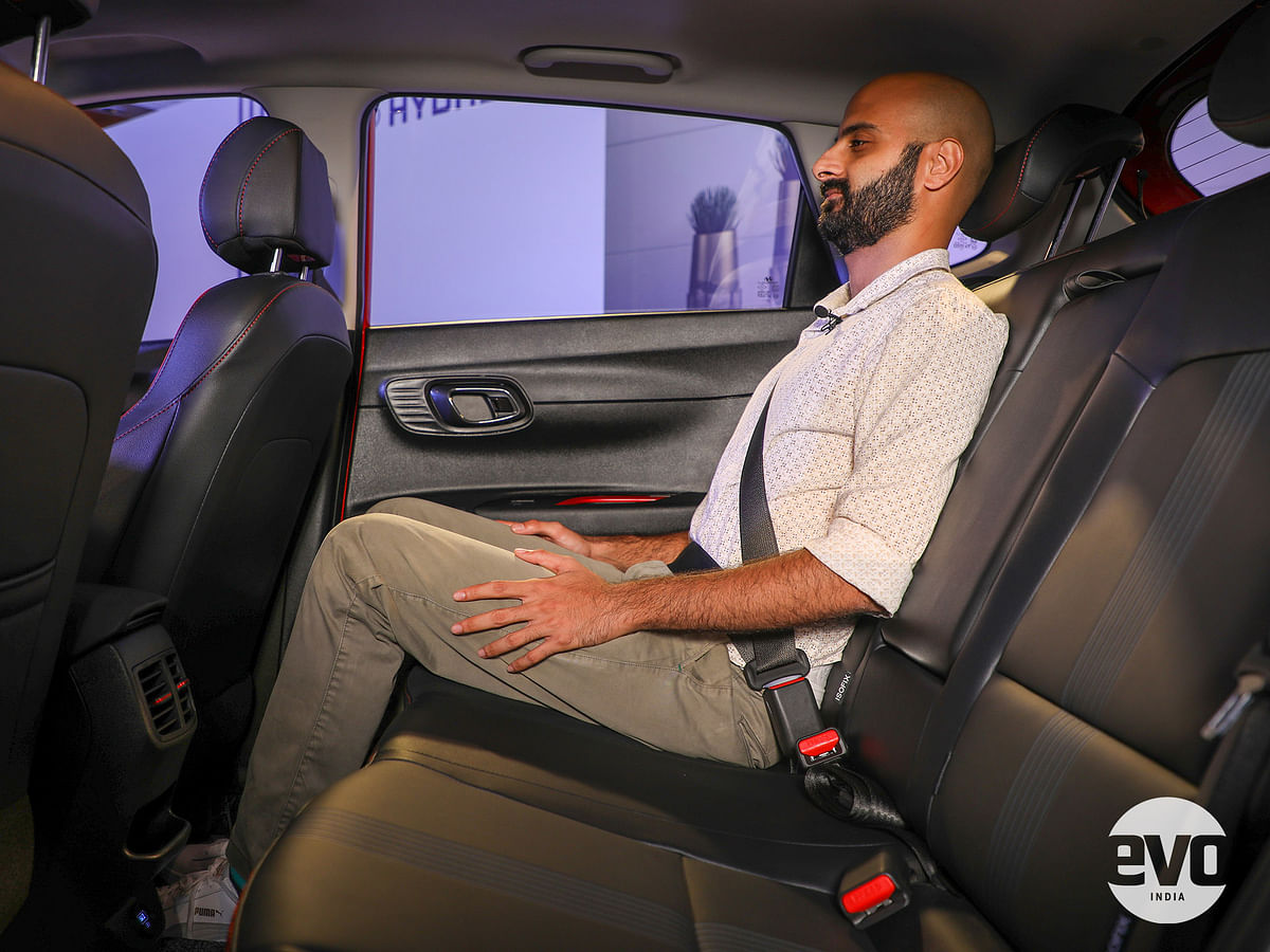 Rear seat is comfortable with good legroom and headroom