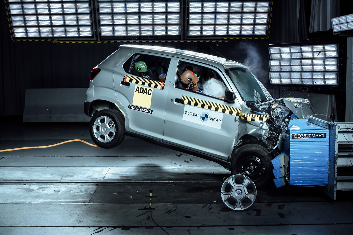 The results state that the S-Presso scored a zero star rating for adult occupants and a two star rating for child safety